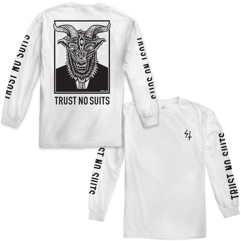 Trust 2 Long Sleeve Tee - White