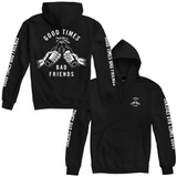 Good Times Bad Friends Pullover Hoodie - Black