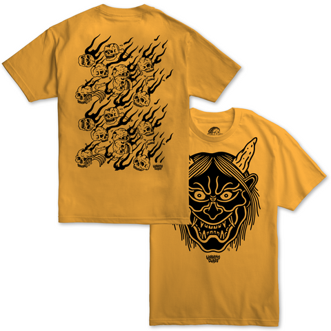 Hannya Fire Tee - Gold