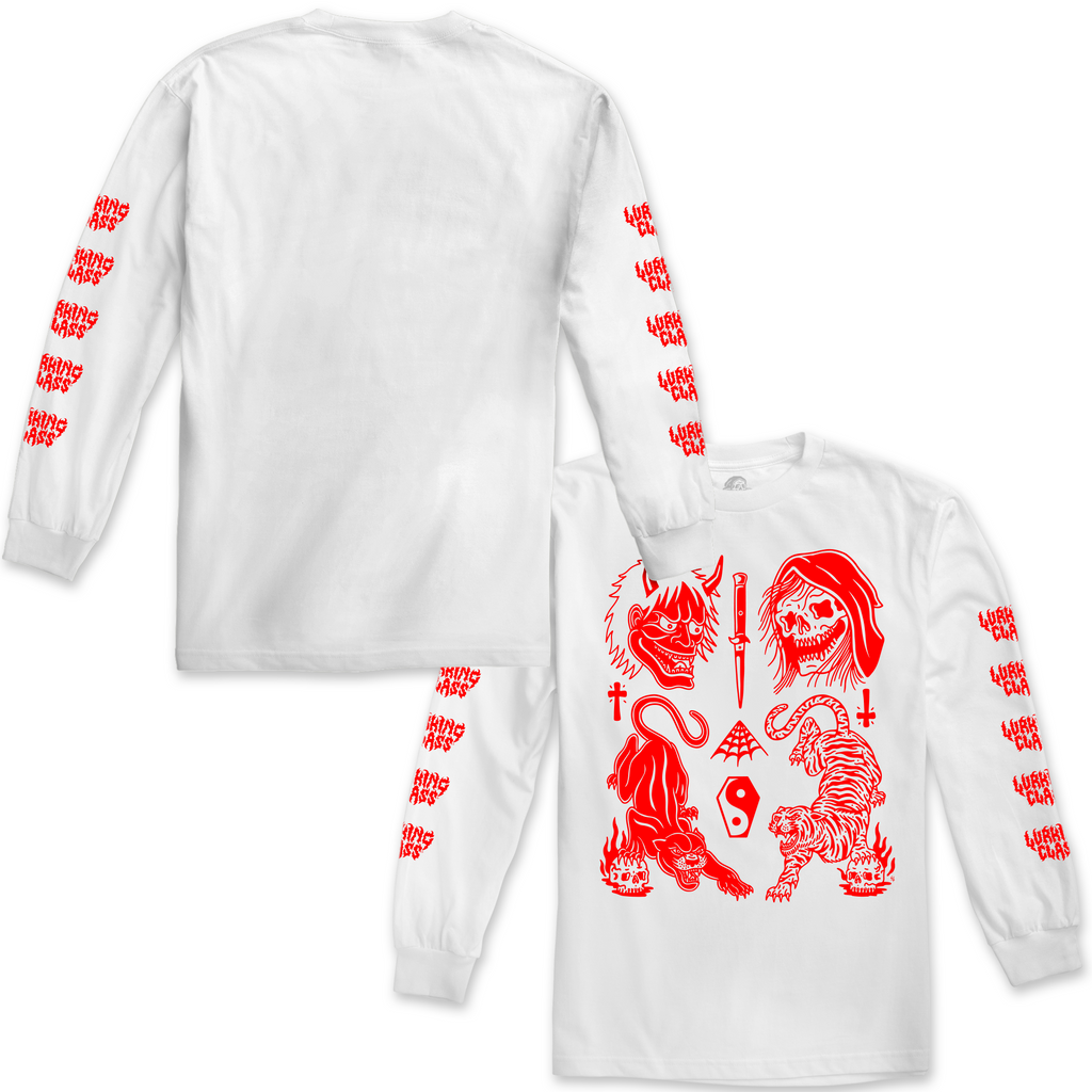 Cat Flash Long Sleeve - White