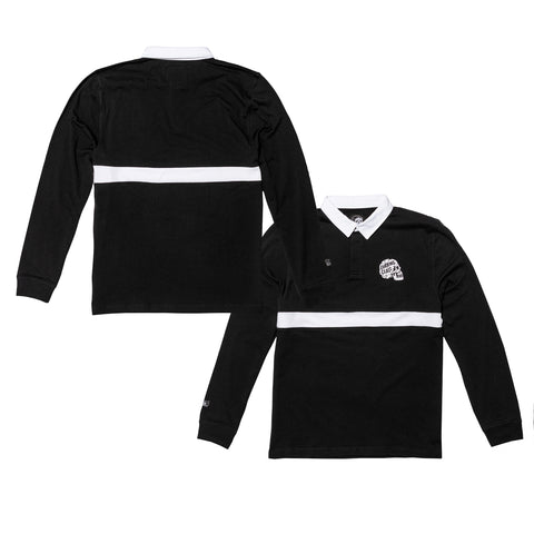 Broken Long Sleeve Rugby Shirt - Black