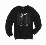 Bat Crew Sweatshirt - Black
