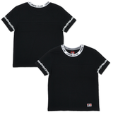 LURKING CLASS WOMENS WORLD BOXY TEE - BLACK