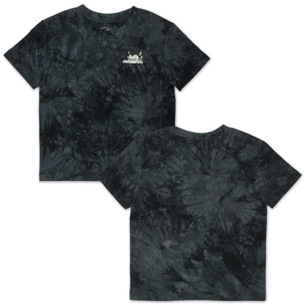 Demon Women's Pocket Tee - Black / Tie Dye