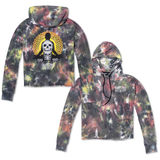 Eternal Women's Cropped Hoodie - Black Tie Dye