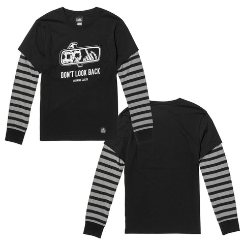 Look Back Women's Over Under Long Sleeve - Black