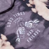 Good Times Women's Pullover Hoodie - Pink/Black