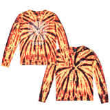 Hot Boy Women's Long Sleeve - Fire Tie Dye