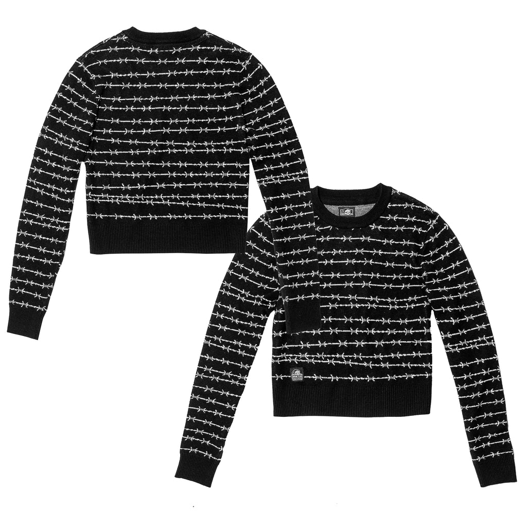 Barbed Wire Women's Sweater - Black