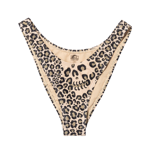 Death Leopard Women's High Leg Swim Bottom - Death Leopard