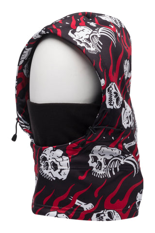 686 Collab Patriot Bonded Hood - Black/Red