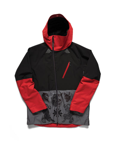 686 Collab Hydra Thermagraph Jacket - Black/Red