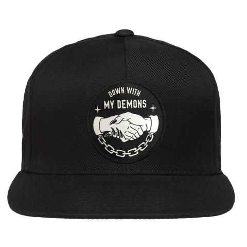 Down With My Demons Snapback - Black