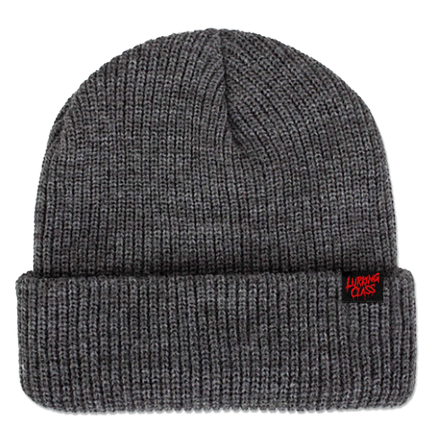 Drip Script Beanie - Heather Grey