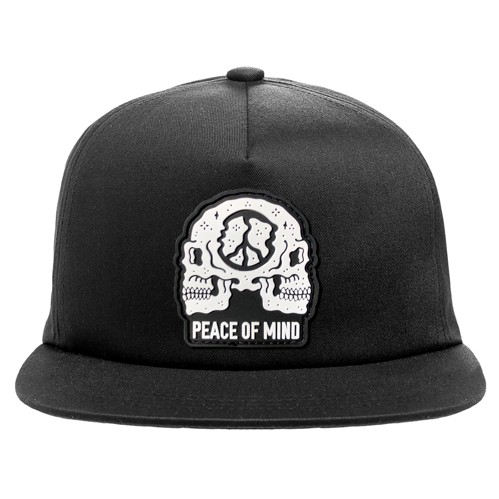 Peace Of Mind Unstructured Hat - Black