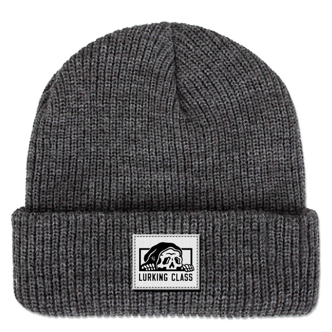 Torn Beanie - Heather Grey
