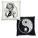 Yin Yang Pillow - Black/White