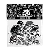 Lurkers Magnet Pack (8 pc) - Black / White