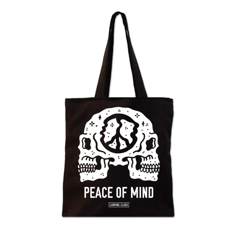 Peace Of Mind Tote Bag - Black