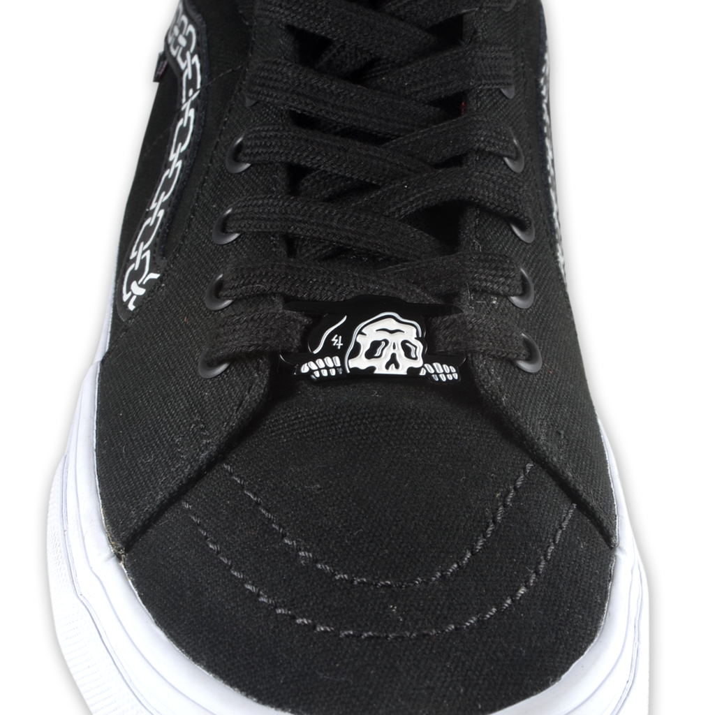 Lurker Shoe Lace Clip-1 Piece - Black/White