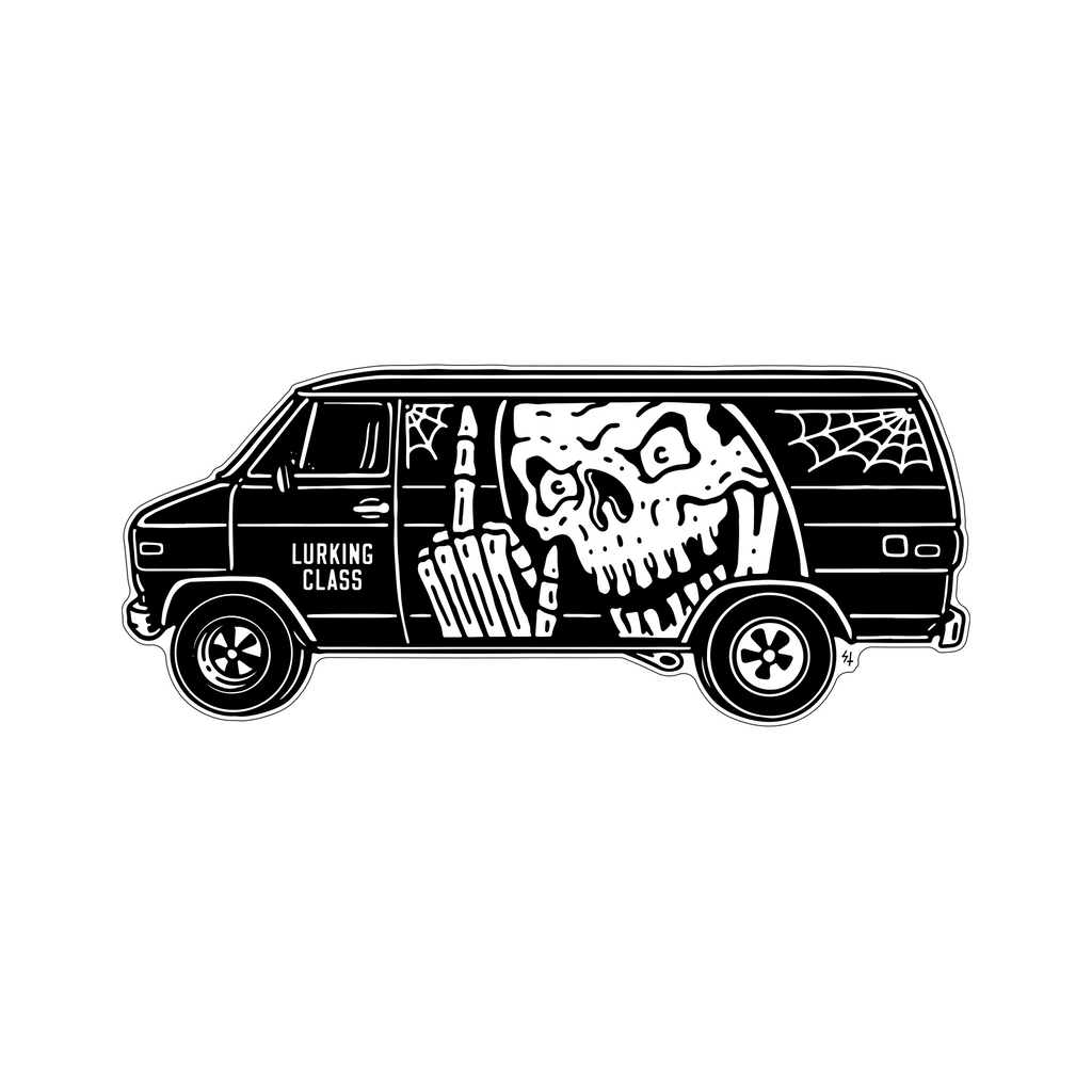 Vannin Sticker XL - Black/White