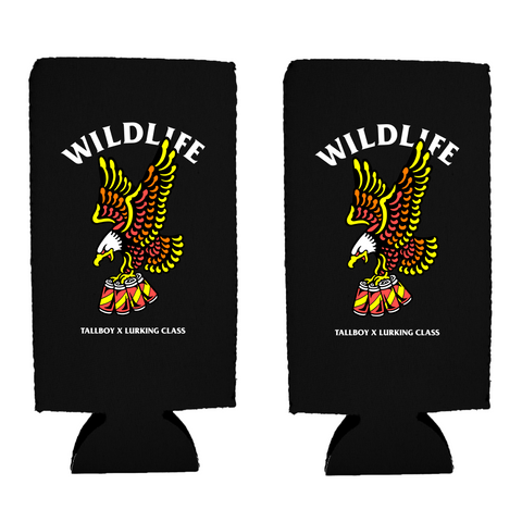 Tallboy Wildlife 2-PACK!! 16oz Koozie - Black