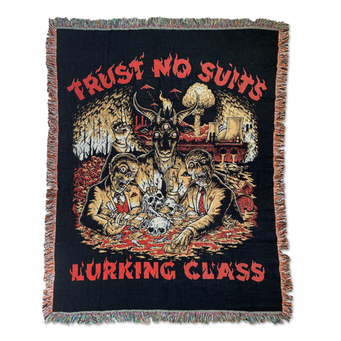 Trust No Suits x Matt Stikker Collab Woven Tapestry - Black