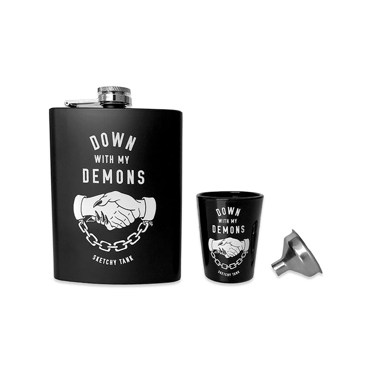 Down With My Demons Flask Set | Lurking Class by Sketchy Tank