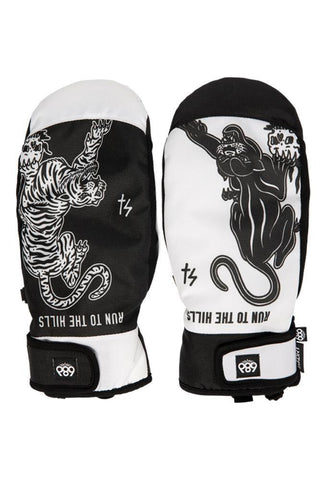 686 Collab Mountain Mitt Big Cats - White