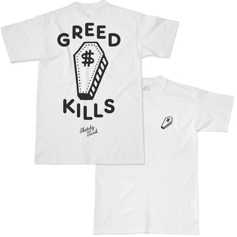 GREED KILLS TEE WHITE