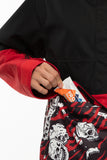 686 Collab Binary Shell Anorak Snow Jacket - Black/Red