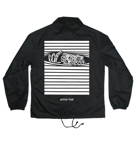 PEAKING COACHES JACKET BLACK