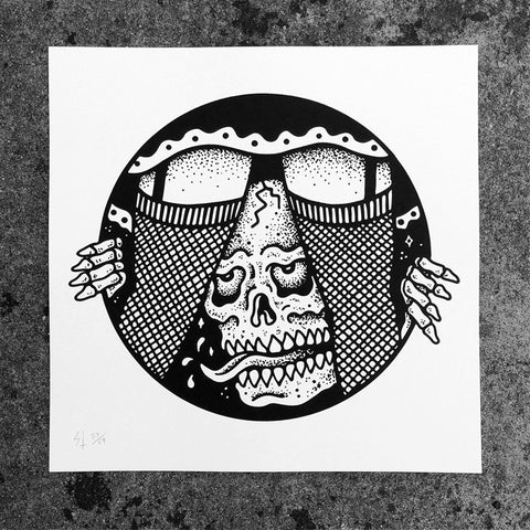 "Limited ""Under"" Silkscreen Print by Sketchy Tank 