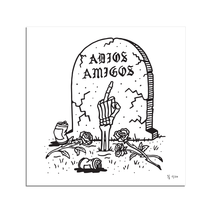Limited Adios Print by Sketchy Tank | Lurking Class