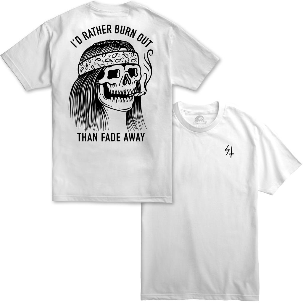 Burner White T-Shirt | Lurking Class by Sketchy Tank