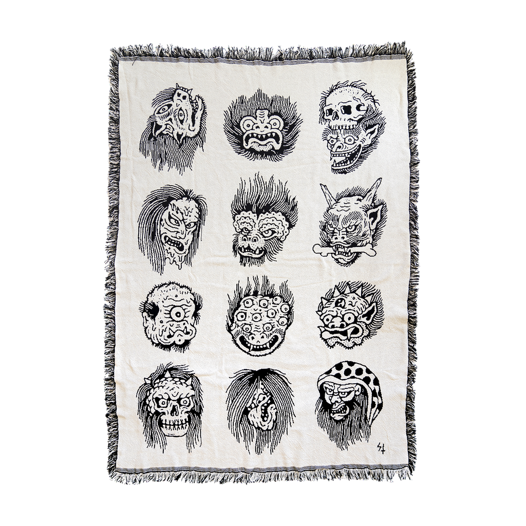 Faces Woven Tapestry | Lurking Class by Sketchy Tank