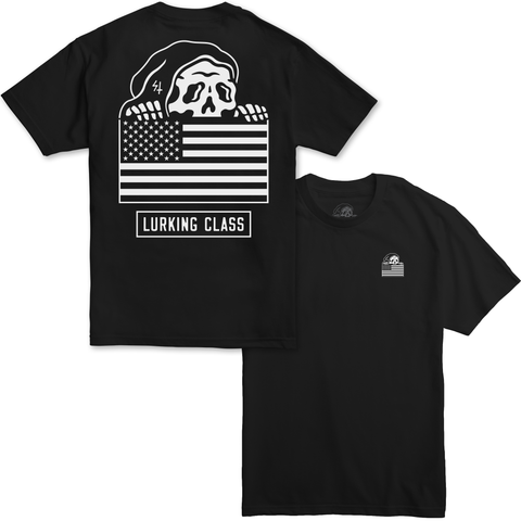 Flag Black T-Shirt | Lurking Class by Sketchy Tank