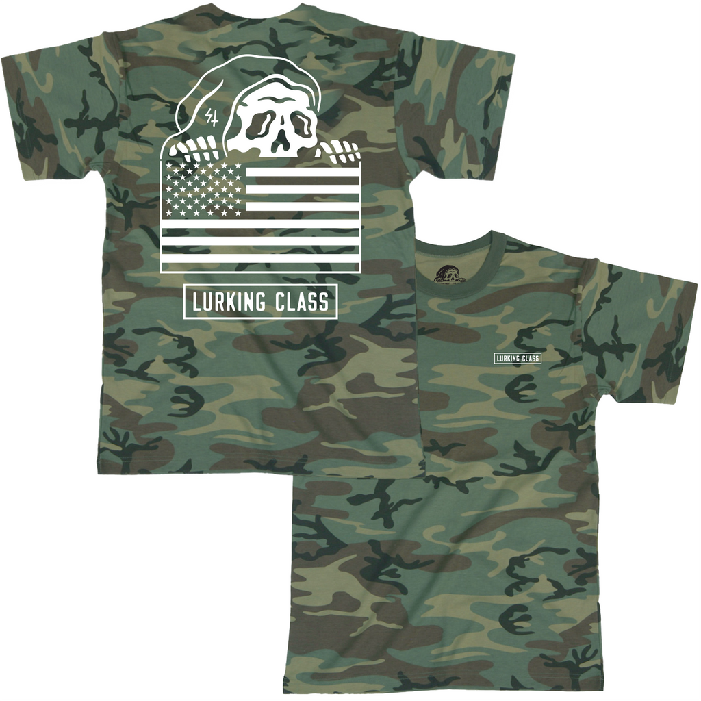 Flag Camo T-Shirt | Lurking Class by Sketchy Tank