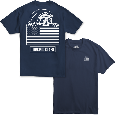 Flag Harbor Blue T-Shirt | Lurking Class by Sketchy Tank