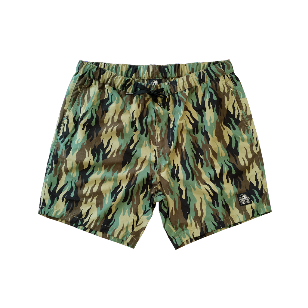 Fuegoflage Jacuzzi Shorts | Lurking Class by Sketchy Tank