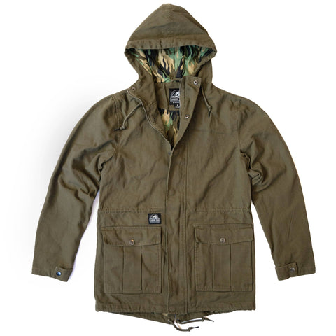 Fuegoflage Parka Jacket - Olive | Lurking Class by Sketchy Tank