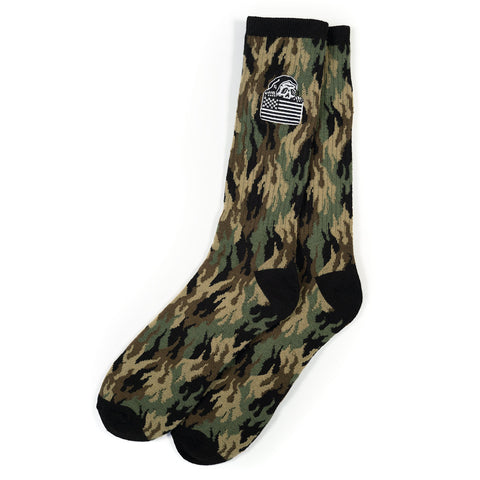 Fuegoflage Embroidered Socks | Lurking Class by Sketchy Tank