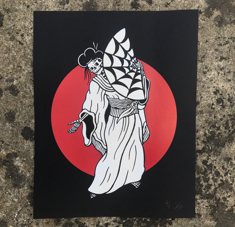 "Limited ""Geisha"" 2-Color Silkscreen Print 