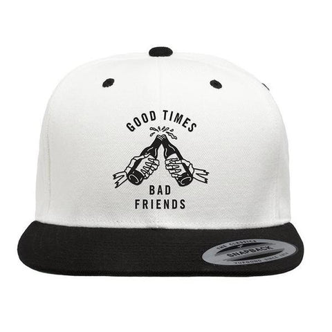 Good Times Bad Friends Snapback Hat | Lurking Class by Sketchy Tank