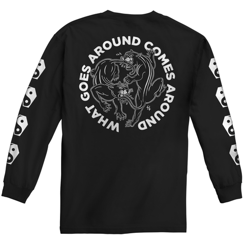 Karma 2 Longsleeve Black T-Shirt | Lurking Class by Sketchy Tank