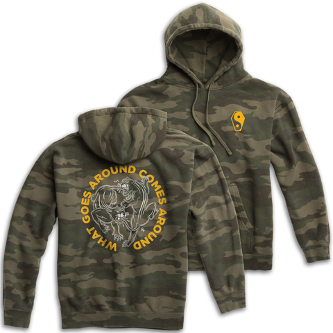 Karma 2 Camo Pullover Hooded Sweatshirt | Lurking Class by Sketchy Tank