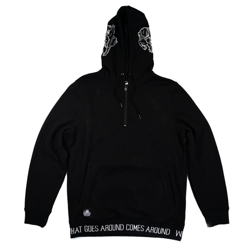 Karma Half Zip Pullover Hooded Sweatshirt | Lurking Class by Sketchy Tank