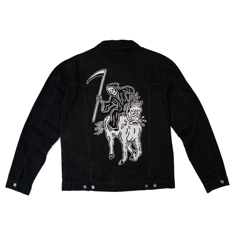 Lurking Class Black Denim Jacket | Lurking Class by Sketchy Tank