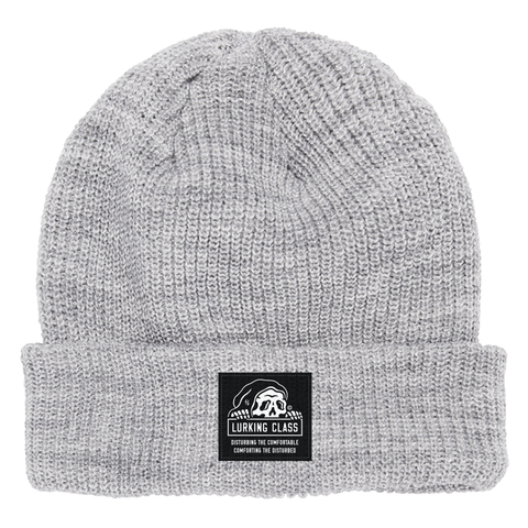 Lurking Class Heather Grey Beanie | Lurking Class by Sketchy Tank