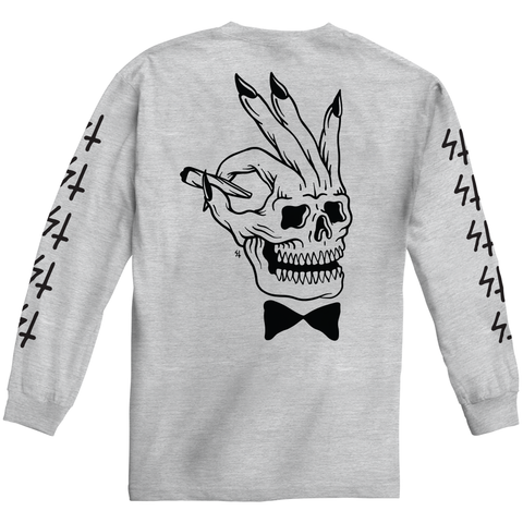 Player Heather Grey Longsleeve T-Shirt | Lurking Class by Sketchy Tank